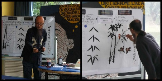 A Lesson on Chinese Calligraphy