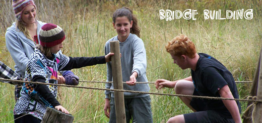 Term 1 students learning to 'Build a Bridge'