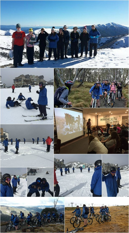 Term 2 - Day Walk turns to Skiing, 1B looking at our water catchment, Bike Ride on Rest Day and guest speaker Tim Cope