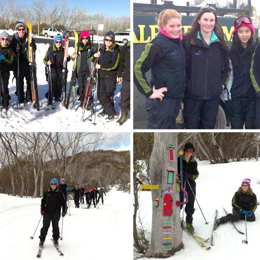 Alpine School Students enjoying a X-Country Ski Day